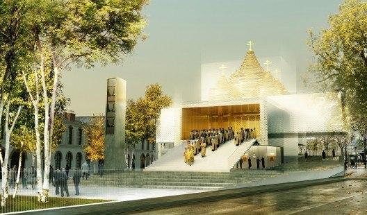 Проект культурного и духовного центра России в Париже © Ameller & Dubois Associates