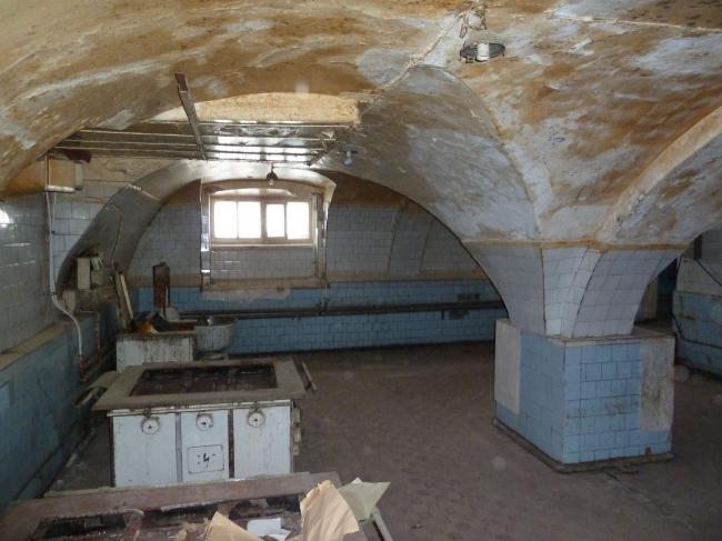 Проект реконструкции Александровского дворца. Цокольный этаж (современное состояние) © Студия 44