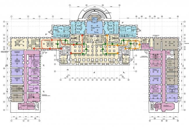 Проект реконструкции Александровского дворца. План 0 этажа