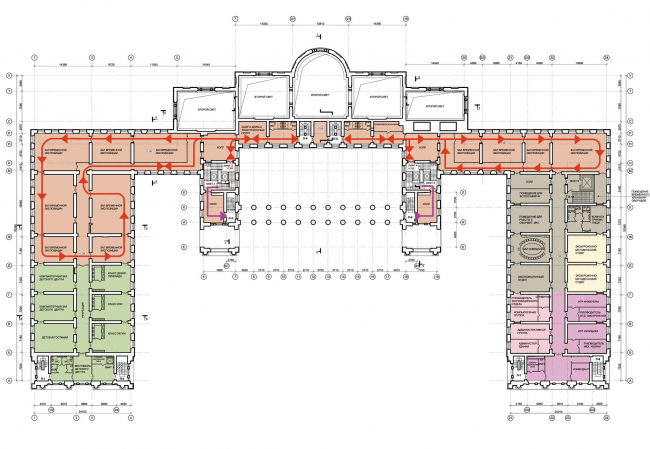 Проект реконструкции Александровского дворца. План 2 этажа