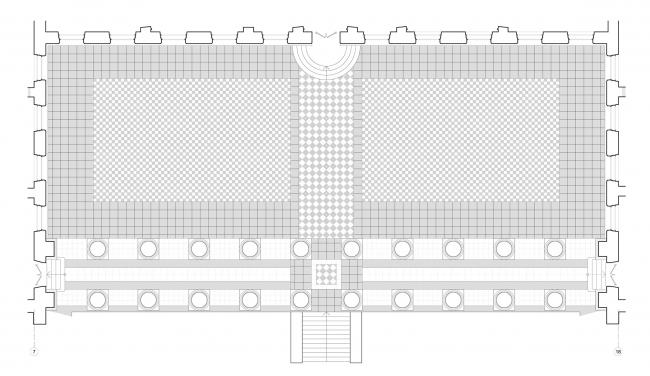 Проект реконструкции Александровского дворца. Реконструкция мощения террасы © Студия 44