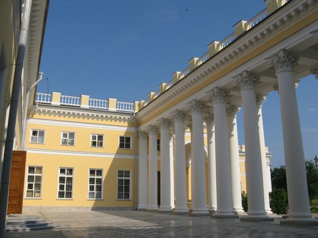 Проект реконструкции Александровского дворца. Терраса с колоннадой © Студия 44