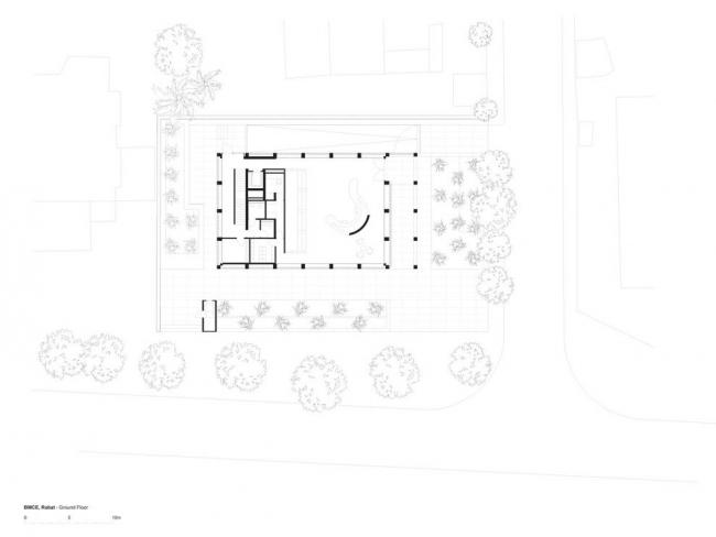 Штаб-квартира банка BMCE. План 1-го этажа © Foster + Partners