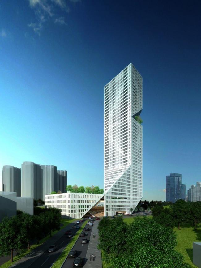 Башня Метро в Шэньчжэнь © WORKac