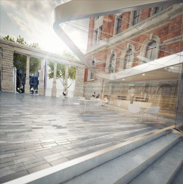 Проект реконструкции двора Музея Виктории и Альберта © Amanda Levete Architects