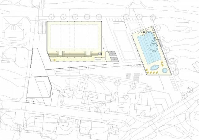 Стадион Arena Ulstein. План © Lund+Slaatto & Nils Tveit