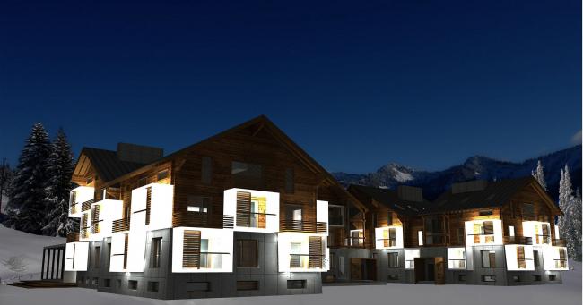 Block apartment-houses in Sochi
