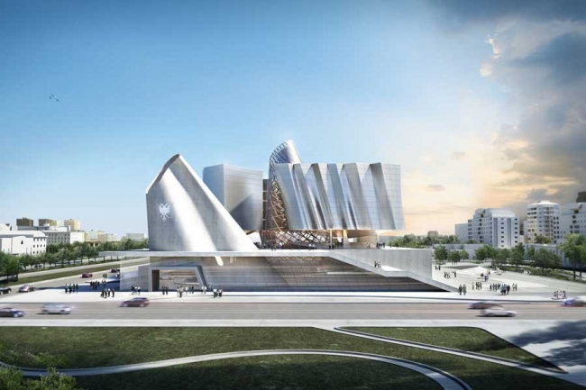 Новый парламентский комплекс Республики Албания © coop himmelb(l)au