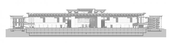 Национальный музей Китая. Разрез © gmp