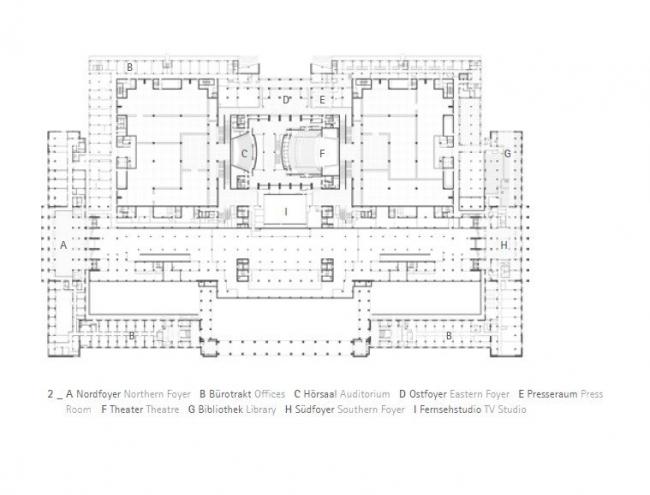 Национальный музей Китая. План уровня входа © gmp