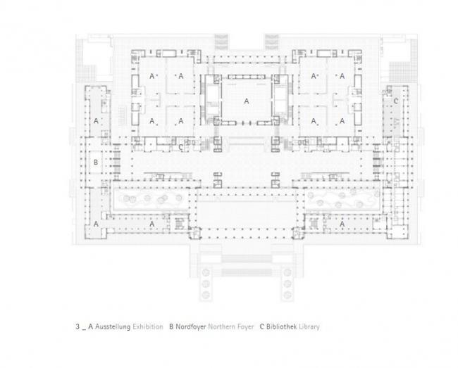 Национальный музей Китая. План главного уровня © gmp