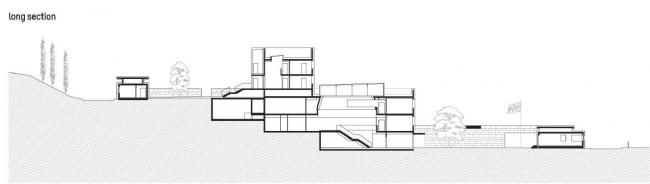 Посольство Великобритании в Грузии. Разрез © Wilford Schupp Architekten