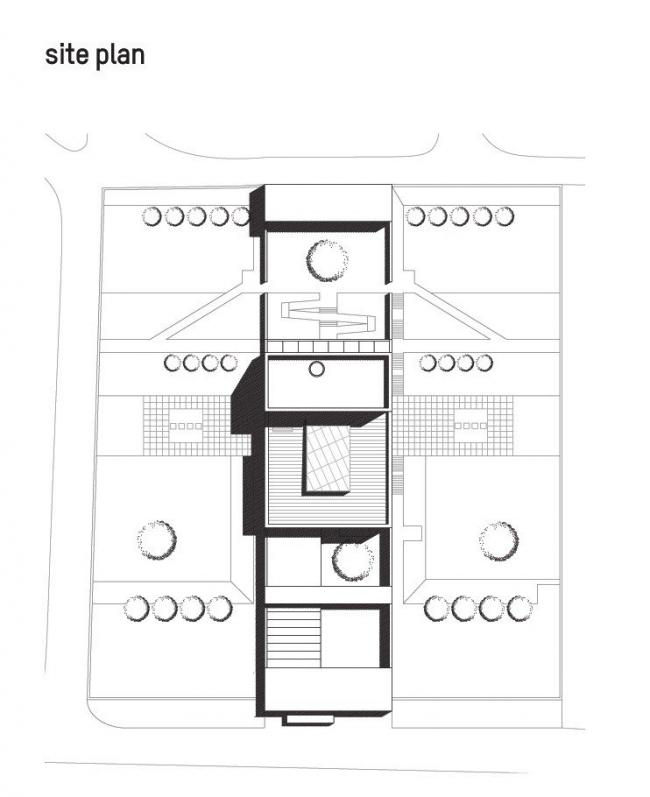 Посольство Великобритании в Грузии. Ситуационный план © Wilford Schupp Architekten