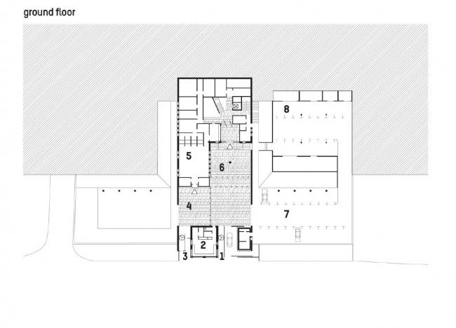 Посольство Великобритании в Грузии. 1-й этаж © Wilford Schupp Architekten