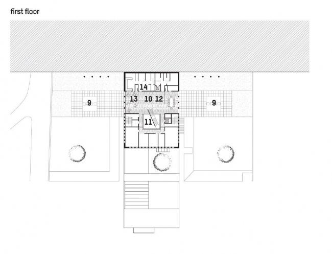 Посольство Великобритании в Грузии. 2-й этаж © Wilford Schupp Architekten