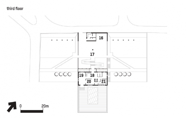 Посольство Великобритании в Грузии. 4-й этаж © Wilford Schupp Architekten