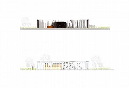 Павильон Прайори-Парка. Проект. Фасады