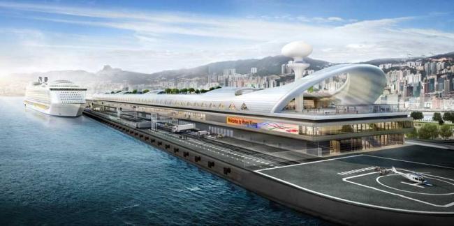 Терминал для круизных лайнеров Кайтак © Foster + Partners