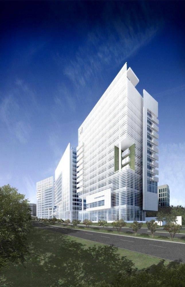 Многофункциональный комплекс Liberty Plaza и отель W Santa Fe © Richard Meier & Partners