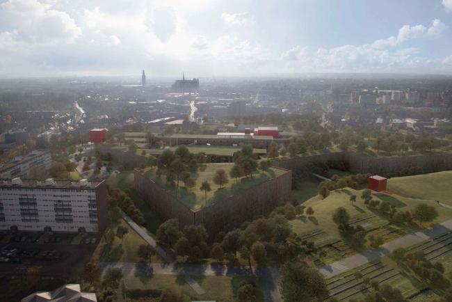 Кампус университета Пикардии - реконструкция цитадели Амьена. Общий вид © RPBW