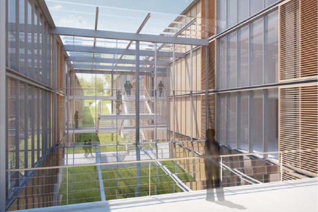Кампус университета Пикардии - реконструкция цитадели Амьена © RPBW