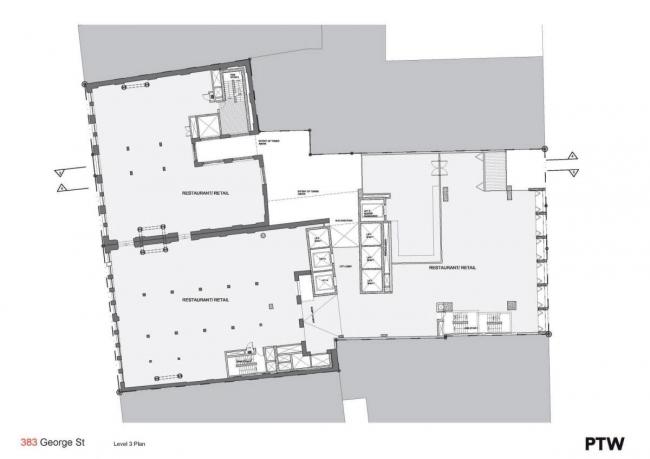 "Комплекс ""383 George Street"". 4-й этаж © PTW Architects"