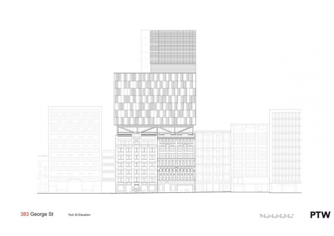"Комплекс ""383 George Street"" © PTW Architects"