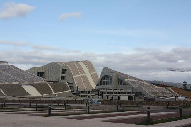 Город культуры Галисии. Фото: P.Lameiro via Wikimedia Commons. Лицензия CC-BY-SA-3.0