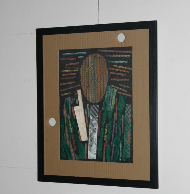 Игорь Корбут. Автопортрет, 2008 г. (картон, пластилин, пластик). Фотография Маргариты Чубуковой