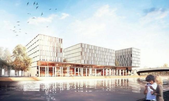 Офисный комплекс Humboldthafen © KSP