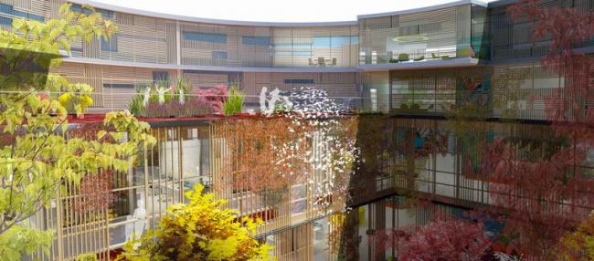 Больница в Хёрлеве © Hennig Larsen architects