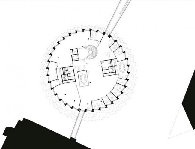 Офисное здание Kuggen. План типового этажа © Wingardh Arkitektkontor