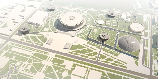 Легкоатлетический комплекс в Московском районе Санкт-Петербурга © Архитектурное бюро «Студия 44»