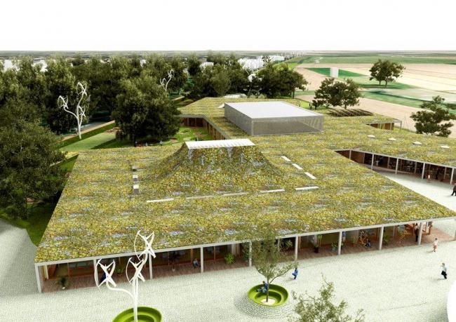 Школа в Кнокке-Хейст. © NL architects