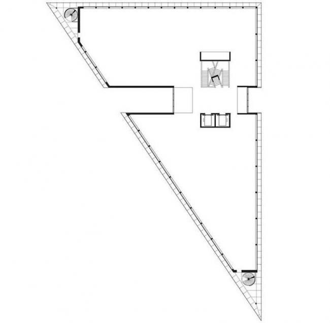 Штаб-квартира компании Gina Tricot. План типового этажа. Wingardh Arkitektkontor