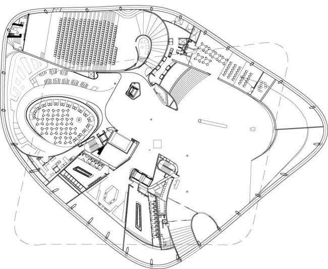 Музей «Сумайя». План по уровню площади © FREE Fernando Romero