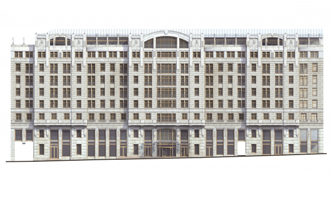 Фасад по Тверской улице