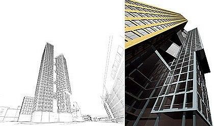 ABD architects. Коммерческий деловой центр «Белая площадь». Первоначальный проект