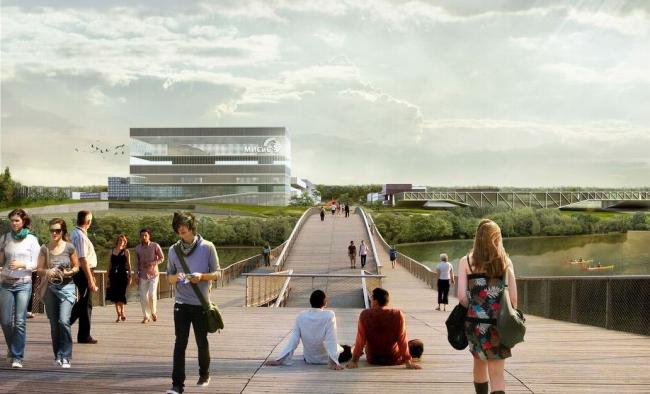 Проект кампуса Национального исследовательского технологического университета «МИСиС» © Mecanoo