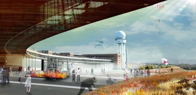 Проект реконструкции аэропорта Темпельхоф в Берлине © GROSS.MAX. и Sutherland Hussey