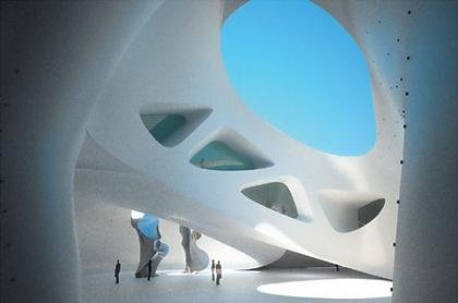 Средиземноморский музей культуры нураге и современного искусства. Свод главного зала, открытый в сторону моря