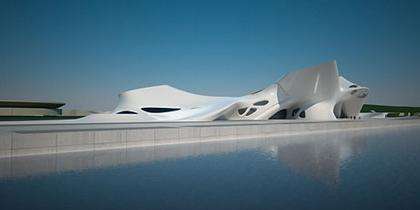 Средиземноморский музей культуры нураге и современного искусства. Вид с моря
