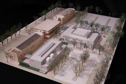 Музей искусства Кемпер и Уокер-Холл. Фото макета