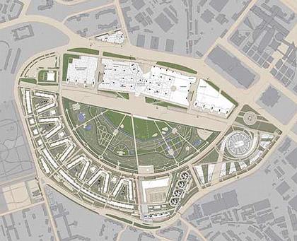 План застройки Ходынского поля. Жилой комплекс «Гранд Парк» © ГУП МНИИП «Моспроект-4»