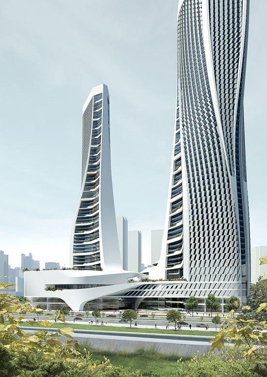 Комплекс Raffles City в Ханчжоу © UNStudio