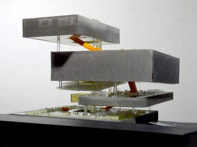 Центральная библиотека, Сиэтл, США Концептуальный макет Фото © REX