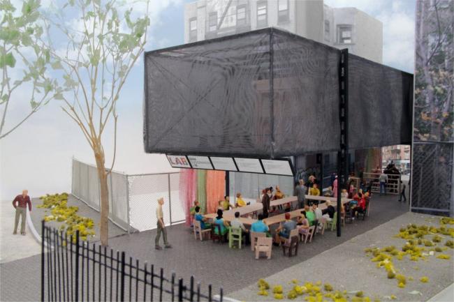 BMW Guggenheim Lab. Конфигурация «мастер-класс» © Atelier Bow-Wow