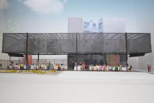 BMW Guggenheim Lab. Конфигурация «банкет» © Atelier Bow-Wow