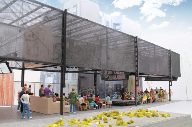 BMW Guggenheim Lab. Конфигурация «круглый стол» © Atelier Bow-Wow