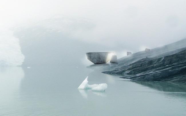 Fantastic Norway. Проект посетительского центра Кнейсен на Черном леднике в Северной Норвегии. Изображение предоставлено Фондом имени Якова Чернихова